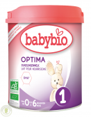 BabyBio Optima infant milk 1 baby formula (from 0 to 6 months)