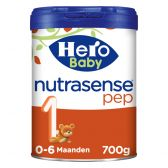 Hero Baby nutrasense pep 1 melkpoeder (vanaf 0 tot 6 maanden)