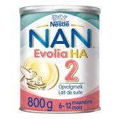 Nestle Nan evolia hypoallergene opvolgmelk HA 2 melkpoeder (vanaf 6 tot 12 maanden)