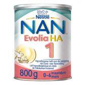 Nestle Nan evolia hypoallergene zuigelingenmelk HA 1 melkpoeder (vanaf 0 tot 6 maanden)