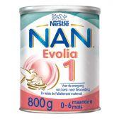 Nestle Nan evolia zuigelingenmelk 1 melkpoeder (vanaf 0 tot 6 maanden)